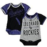Majestic Colorado Rockies Baby/Infant Descendant 2 Piece Creeper Set