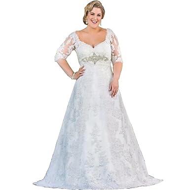 Chady Fashion Romantic Plus Size Wedding Dress 2019 Appliques Lace 3 ...