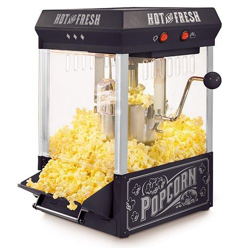 Nostalgia KPM200BK Tabletop Kettle Popcorn Maker, 2.5-Ounce, Black