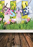 SJOLOON 5x7ft Easter with floor Vinyl Photography Backdrop Customized Photo Background Studio Prop 9911