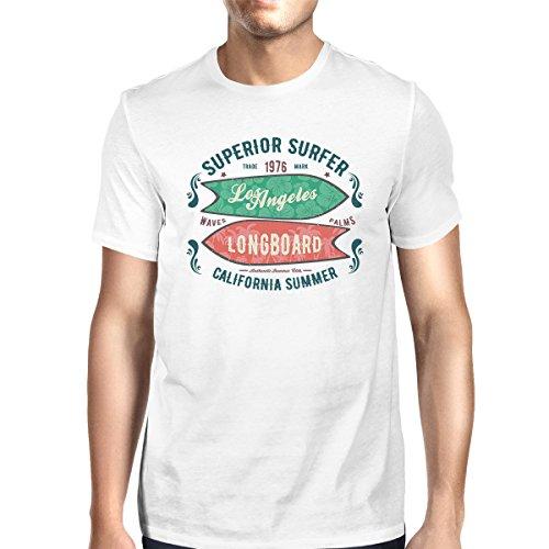 manga Surfer 365 The Printing Camiseta Longboard de Size para corta One White hombre Superior frtCrWU