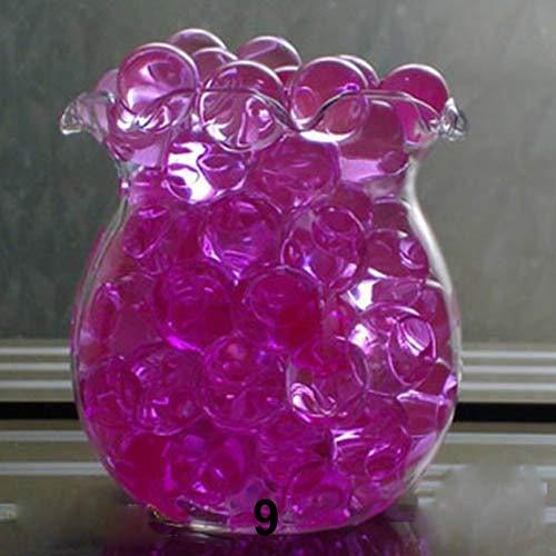 hwangli Water Beads Rainbow Mix (1000 Pcs ) Water Beads Mud Magic Balls Flower Plants Wedding Decor Purplish Red