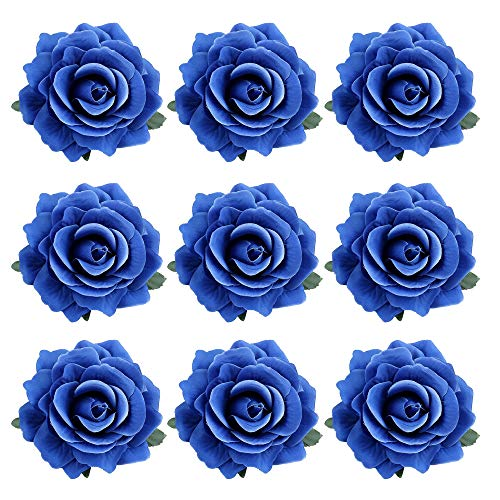 inSowni 16/9/4 Pack Rose Flower Hair Clips Brooch Pins Accessories Barrettes for Women Girls Bride (9PCS S6)