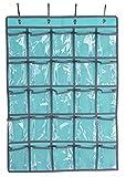 LOUISE MAELYS Transparent Classroom Cell Phones Pocket Chart Over-Door Hanging Bag