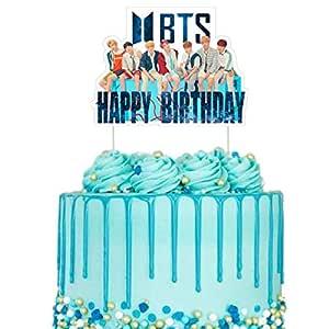 BTS Decoración para tarta de cumpleaños, decoración de ...