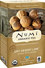 Numi Organic Tea Dry Desert Lime, 18 Count Box of Tea Bags (Pack of 6) Herbal Teasan (Packaging May Vary)
