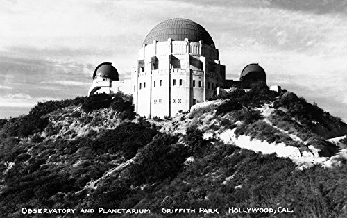 Hollywood, California - Griffith Park Observatory and Planetarium - Vintage Photograph (12x18 SIGNED Print Master Art Print w/Certificate of Authenticity - Wall Decor Travel ()