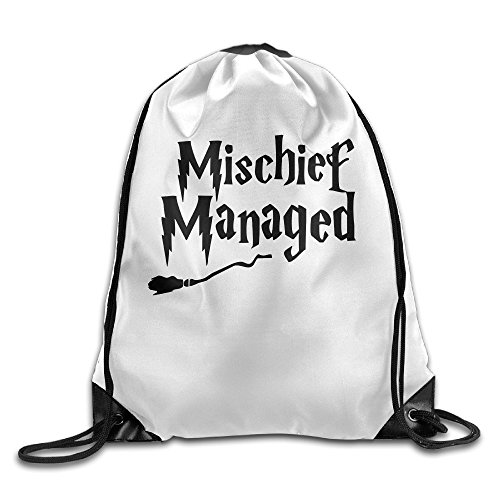 Enth Mishchief Managed Harry Potter Polyester Travel Drawstring Backpacks Bags