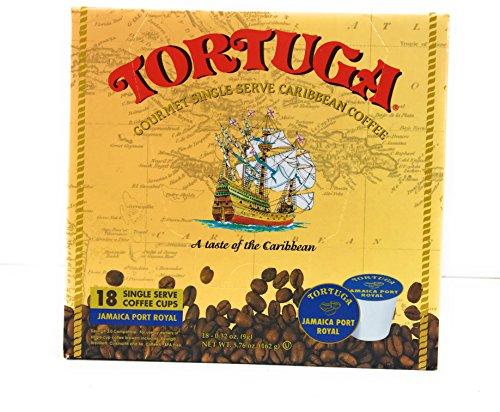Tortuga Gourmet Single Serve Caribbean Coffee - 18 Single Serve K-Cups - Jamaica Port Royal Flavor