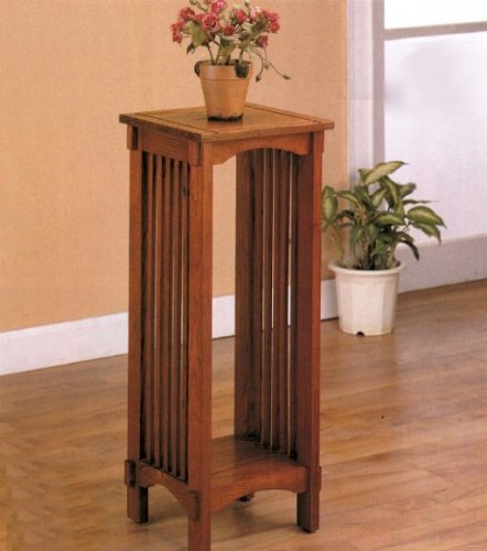 The Furniture Cove Solid Oak Mission Style Plant Stand (Mission Stand Style Plant)