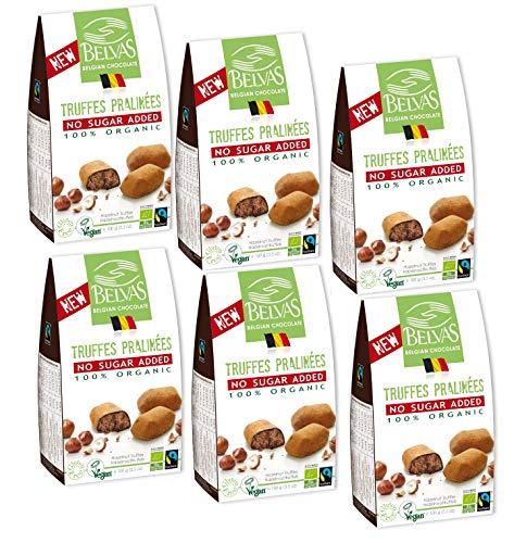 (Belvas Hazelnut Praline Truffles - No Added Sugar Dark Chocolate 3.5oz (6 Boxes))