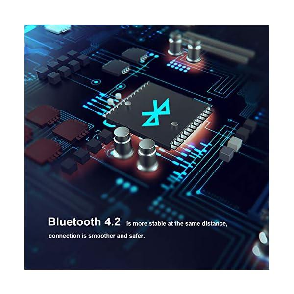 Zamkol Enceinte Bluetooth Portable, Waterproof Haut-Parleur Bluetooth Enceinte d'extérieur sans Fil 24W, 360° HD Bass Pilote Double, Bluetooth 4.2, étanche IPX6, Mains Libres et Technologie TWS 6
