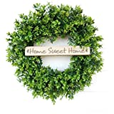 Boxwood Wreath, Farmhouse Wreath, Fall Wreath, Summer Wreath, Door Sign, Year Round Wreath, Door Wreath, Outdoor Wreath, Winter Wreath, Spring Wreath, Farmhouse Home Decor, Housewarming Gift