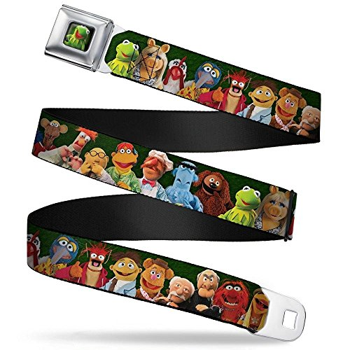 Buckle-Down Seatbelt Belt - Muppets 20-Character Group Pose Greens - 1.5