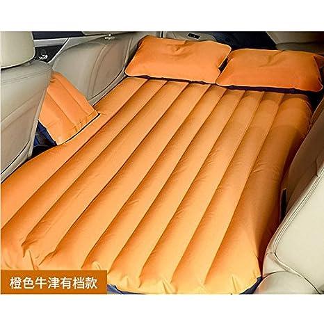 zallx a larga distancia de coche Sleep coche artefatto Asiento Trasera Aire Colchón matrimonio, Naranja gruesa paño de Oxford: Amazon.es: Hogar