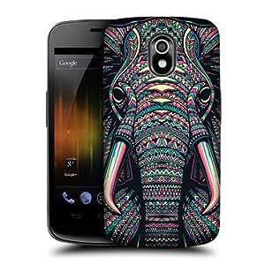 AIYAYA Samsung Case Designs Elephant Aztec Animal Faces Protective Snap-on Hard Back Case Cover for Samsung Galaxy Nexus I9250