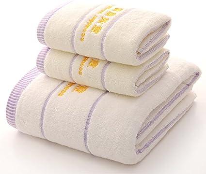 Juego de toallas de baño de algodón egipcio supersuaves, absorbentes y de secado rápido, 70 x 140 cm, 500 g (1 ...