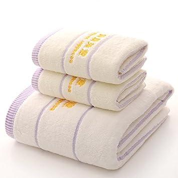 Lujo Supersoft algodón egipcio toallas absorbente y de secado rápido toallas de baño 70 x 140 cm, 500 g (1 x toallas de baño y 2 x toallas): Amazon.es: ...