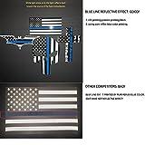 Bundle Reflective Thin Blue line Stickers - Thin