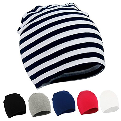 Audoc Toddler Infant Baby Hats Soft Cute Newborn Beanie Hat(6 Pack)