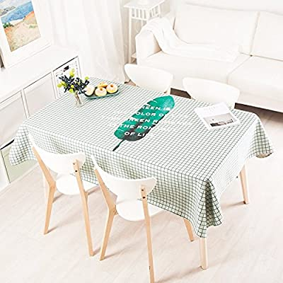 140 * 240 cm verde Checker hoja escandinavo moderno Instagram ...