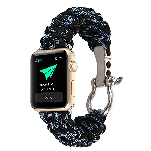 Saying _Watch band for IWatch Apple Watch 42mm, Outdoor Umbrella Rope Nylon Strap Bracelet Alternate Adjustable Quick Change Wristband Outdoor Sports Strap (H) ()