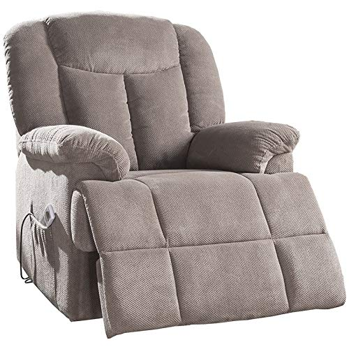 Acme Ixia Tufted Recliner in Light Brown -  Acme Furniture, 59275