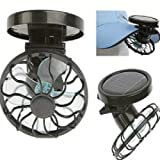 Flytaker Portable Mini Solar Clip Fan Cooling Fans Energy Saving