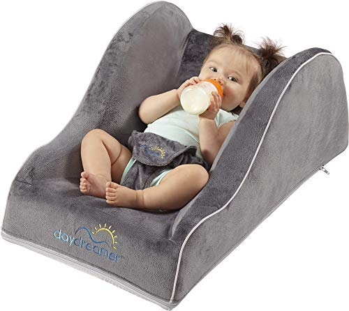 hiccapop Day Dreamer Napper Baby Lounger Seat for Infants - Travel Bed - Bassinet Alternative, Charcoal Gray (Best Exersaucers For Babies 2019)