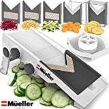 Mueller Austria Premium Quality V-Pro Multi Blade Adjustable Mandoline Cheese/Vegetable Slicer, Shredder with Precise Maximum Adjustability