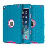 iPad mini 4 Case - Fisel Tire Design Three Layer Rugged Armor Defensive Shockproof Anti-Scratch Bumper High Impact Resistant Full-Body Protective Case for iPad mini 4 Generation
