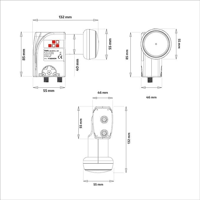 Diesl - LNB Twin Universal Beid 0.1 dB. 2 Salidas: Amazon.es ...