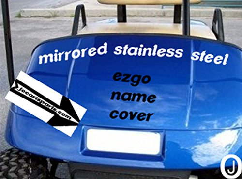Ezgo Golf Cart Stainless Steel Front Name Plate