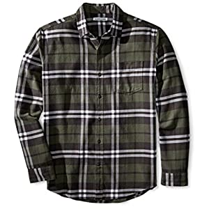 Amazon Essentials Men's Regular-Fit Long-Sleeve Plaid Flannel Shirt