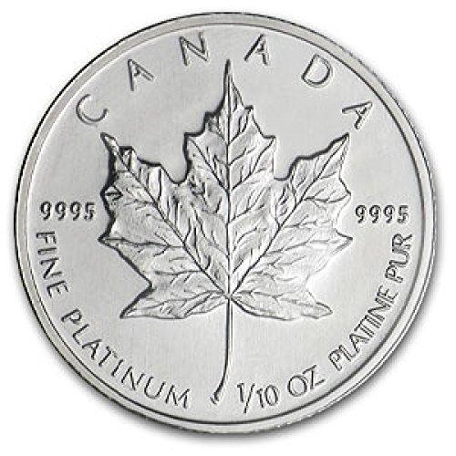 2000 CA Canada Maple Leaf - 1/10 oz .9995 pure Platinum Coin - $5 Brilliant Uncirculated BU