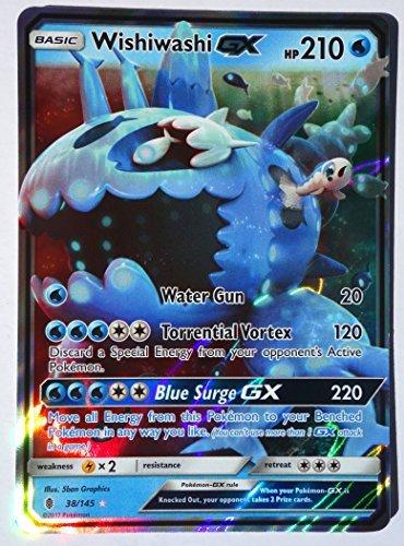 Pokemon, Sun & Moon Guardian rising, Wishiwashi GX 38/145, Ultra Rare, Mint, New, Full Art