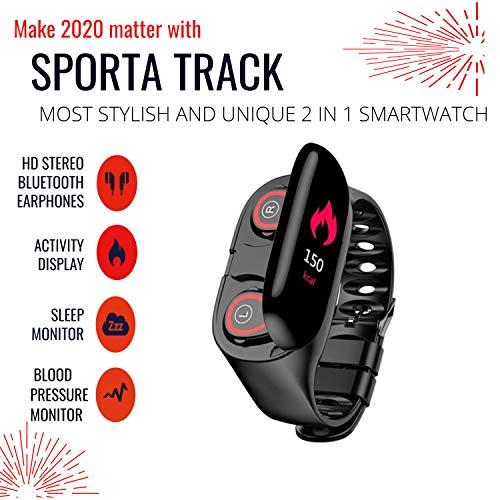 2in1 Smart watch With bluetooth earphone Heart Rate Fitness Tracker Blood Pressure Monitor Men Women girls Smart Watch…