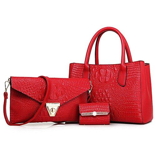 FavoMode - Bolso mochila para mujer dorado dorado granate