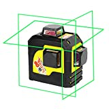 Firecore 93TG Professional 3 Plane Laser Level Self-Leveling Tool, Green(Batteries included)
