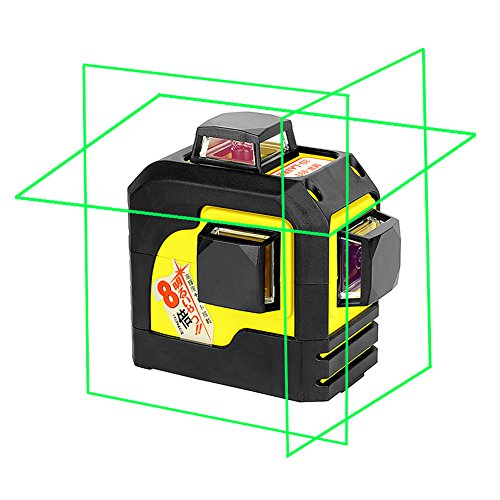 Multifunction Laser Level - Firecore 93TG Professional 3 Plane Laser Level Self-Leveling Tool, Green(Batteries included)