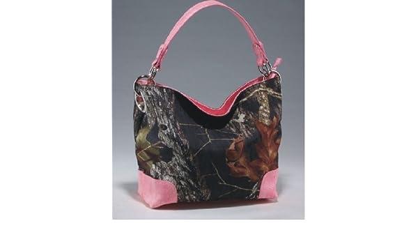 MT1-53221 MO-PK Licensed Mossy Oak Camo Camouflage Western Hobo Tote Purse Handbag