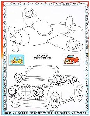 YCANK - Libro de Dibujo para Colorear con diseño de Rompecabezas ...