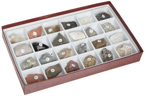 American Educational Rocks and Rock Forming Mineral Collection (Pack of 24)