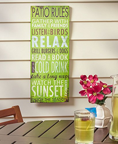 Summer Fun Rules Sign Patio