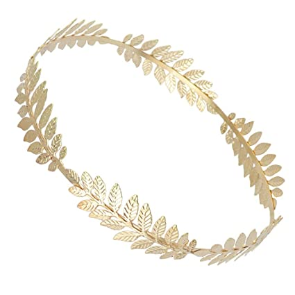 Calidad superior marca famosa último estilo Mujer Tiara Adornos Diadema De Hoja De Oro Vintage Boho ...
