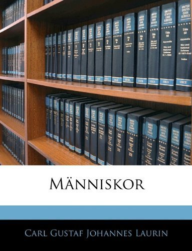 Människor (Swedish Edition) by Laurin, Carl Gustaf Johannes published by Nabu Press (2010) [Paperback]