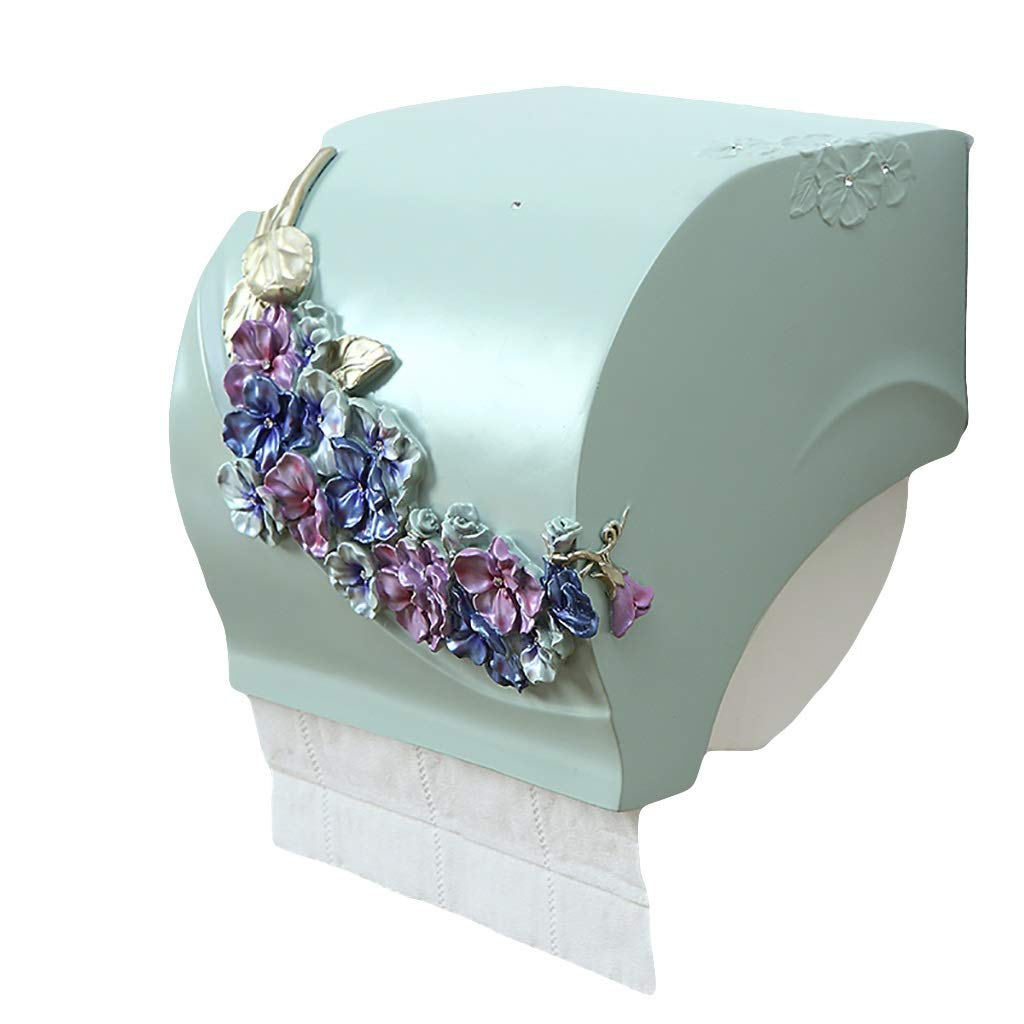 Tissue Box MAHONGQING Creative Waterproof Toilet Toilet Toilet Toilet Toilet Toilet Toilet Paper Towel Stand Resin Large Paper Rack (Color : A)