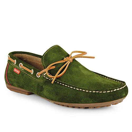 Wisconsin , Herren Mokkasins grün grün