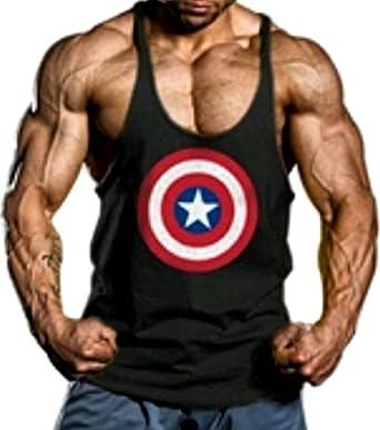 A. M. Sport Camiseta Tirante Hombre para Gimnasio. T-Shirt y ...