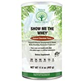Grass Fed rBGH Free Whey Protein by Natural Nutra — Gluten Free, Non-GMO, Chocolate, 16.5 Oz.